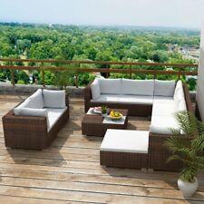 32PC PE Wicker Rattan Garden Outdoor Sofa Lounge Furniture Setting Brown/Black