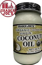 🔥 Trader Joe's Organic Virgin  Coconut Oil  Cold Pressed Unrefined 16 oz 🔥