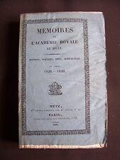 Mémoires de l'académie royale de Metz 1829-1830