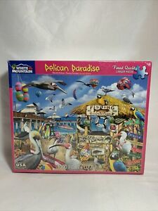 White Mountain 1000 pc. Jigsaw Puzzle Pelican Paradise
