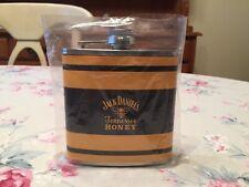 JD JACK DANIEL'S 6 oz STAINLESS STEEL Hip Flask TENNESSEE HONEY Whiskey DANIELS