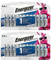 Energizer L91 AA Ultimate Lithium Batteries 24 Pack FRESH EXPIRES 12/2038 2x12