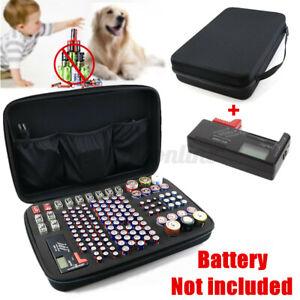 UK Battery Storage Case Carrying Bag Holder For AA AAA C D 9V & Battery Tester