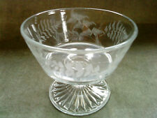 Victorian Sowerby sweet meat / candy dish pteridomania etched fern and leaf dish