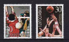 Jugoslawien 2001 postfrisch  MiNr. 3044-3045  Basketball- und Volleyball- EM