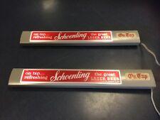 "Vintage Schoenling Beer Lighted On Tap Tavern Sign Cincinnati 15-1/4""x 1"" As Is"
