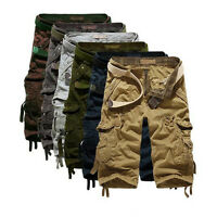 Summer Men's Military Pants Army Cargo Work Casual Shorts Baggy Overall Trousers