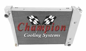 Champion Cooling 4 Row All Aluminum Radiator MC571 Buick,Chevrolet,Oldsmobile,Po