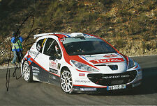 Petter Solberg Hand Signed Peugeot 207 12x8 Photo Rally.