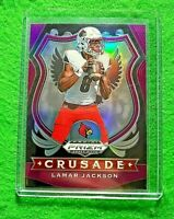 LAMAR JACKSON PRIZM PURPLE CRUSADE ROOKIE CARD RAVENS RC 2020 PANINI PRIZM DP RC