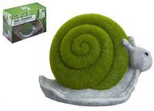 Flocked Snail Garden Patio Ornament Grass Effect Animal Statue Figure 12 X 18cm