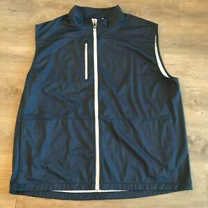 Men's FootJoy Navy Blue Full Zip Golf Vest Sz 2XL