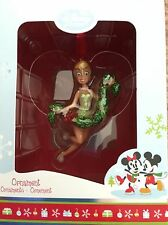 RARE 2011 DISNEY STORE TINKERBELL HOLDING A GARLAND ORNAMENT - NEW IN BOX