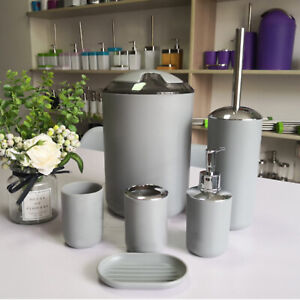 High-end bathroom set, soap dispenser,toothbrush holder,cup,soap tray,trash can