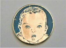 J11:) Enamel Baby Face Childs face lapel tie pin badge