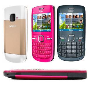 Original Nokia C Series C3-00 Unlocked Mobile Phone Bluetooth FM JAVA 2MP WIFI