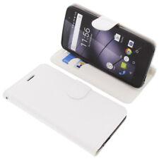 Tasche für Gigaset GS160 / GS170 Book-Style Schutz Hülle Handytasche Buch Weiß