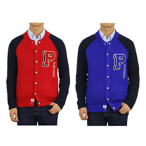 """Polo Ralph Lauren Boy's Button Cardigan Sweater with """"P"""" - 2 colors -"""