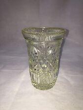 """Lead Crystal Cut Vase Vintage Bud Flower Vase 7"""" Tall 4"""" Wide"""