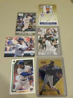 Ken Griffey Jr 6 Card Lot Seattle Mariners Upper Deck Bowman Best Topps Stadium