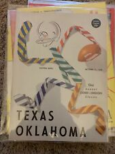 1958 Oklahoma Sooners Texas Longhorns Football Program Cotton Bowl Dallas