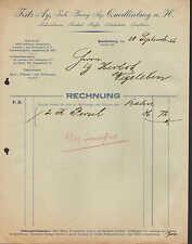 Quedlinburg, factura 1926 kolonialwaren, café, chocolate, confituras Fritz ay