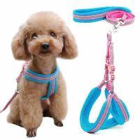 Dog Cat Pet Harness Vest Collar Puppy Walking Leash Mesh Reflective Breathable