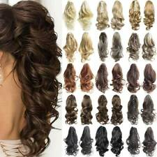 Extra Thick Claw Ponytail Clip In Hair Extensions Pony Tail Hair Piece Womens