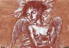 original painting A3 206RI art by samovar acrylic Modern naked angel Signed 2021
