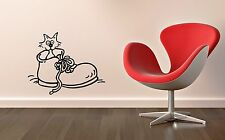 Wall Sticker Vinyl Decal Cat Boots Animal Pets Witty Decor Room (ig1136)