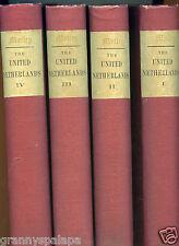 History of The United Netherlands-4 Volume Set-1860-John Motley-Map-