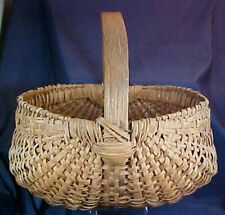 Antique Large Buttock Basket Splint Hand Woven