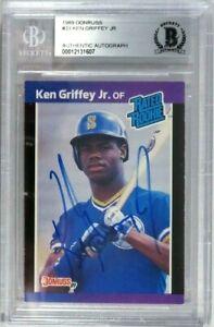 KEN GRIFFEY JR RC 1989 DONRUSS SIGNED AUTOGRAPH ROOKIE CARD #33 BGS AUTO
