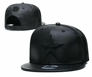 Dallas Cowboys NFL Snapback Cap Hat Faux Leather Black