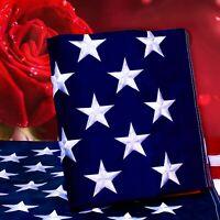 3x5 Ft American Flag Embroidered Stars Heavy Duty Nylon Brass Grommets USA Flag
