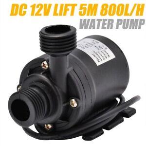 12V/24V DC Fish Water Pump 800L/H Pond Aquarium Tank Waterfall Fountain Sump 5M