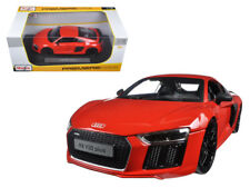 1/18 Maisto Audi R8 V10 Plus Red Premiere Edition Diecast Model Car Red 36213