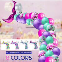 Mermaid Tail Balloon Garland Latex Balloons Arch Baby Shower Wedding Party Decor