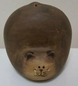 Handmade Ceramic  Pottery Cat Display Great Condition!