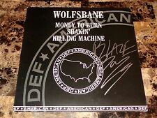 Blaze Bayley Rare SIGNED Wolfsbane Promo Vinyl EP Record Heavy Metal Iron Maiden
