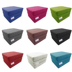 MyLayabout Adult Z Bed MEMORY FOAM Fold out bed /Chair/Mattress/Pouffe | Single