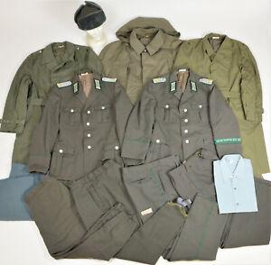 DDR NVA GT Konvolut Uniformjacke Uniform Grenztruppen Mantel Hose Defekte 4824