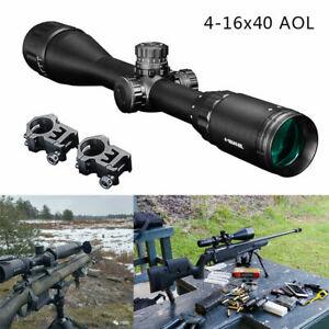 4-16x40 AOL Tactical Sight Scope Cross for Hunting Rifle Shotgun 20mm Rail Mount