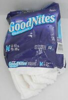 VINTAGE GOODNITES DIAPERS 1998 Medium Pull-ups Lot of 5 WHITE Bed Wet Red Label