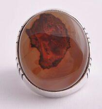 Silver Yemeni agate aqeeq Men Ring-Middle Eastern-yemen-yemeni