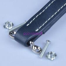 Blue Vintage Leather Handle For Fender Ampeg VOX Guitar Tube Amp Audio Cabinet