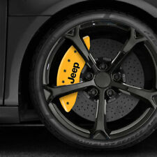 Yellow MGP Caliper Covers w/JEEP Grill for 2011-2019 Jeep Grand Cherokee