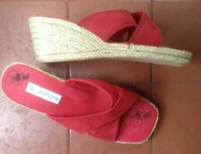 Lady's Red Wedgie Shoes, Size 8, Unworn