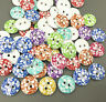 Wooden Round Cherry pattern Buttons Mixed color 2-holes sewing scrapbooking 15mm