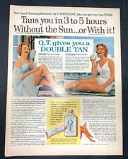 Life Magazine Ad Quick Tanning by COPPERTONE 1963 Ad